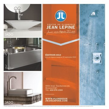 Catalogue - Plomberie Jean Lepine