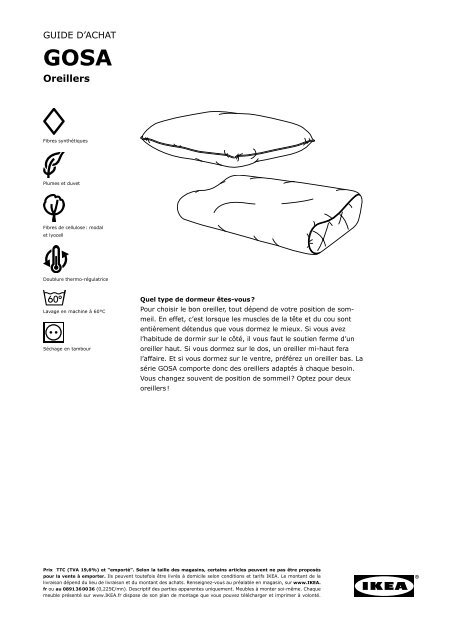 oreillers bas couchage su. Black Bedroom Furniture Sets. Home Design Ideas