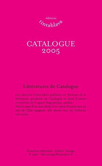 Télécharger le catalogue des éditions Tinta blava, au ... - Lekti-écriture