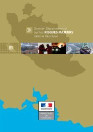 Dossier Départemental sur les RISQUES MAJEURS dans le Vaucluse