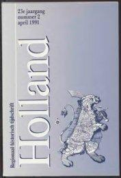 23e jaargang nummer 2 aprü 1991 - Holland Historisch Tijdschrift