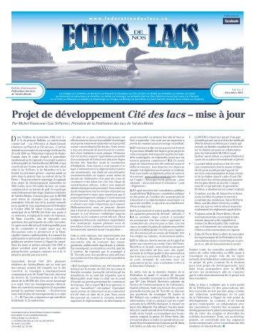 Vol. 6 — No. 2 Automne 2011 - Fédération des lacs de Val-des-Monts