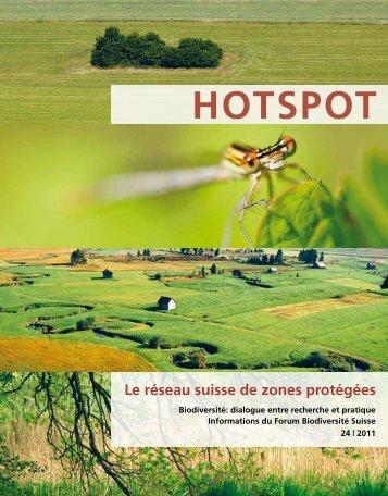 Le réseau suisse de zones protégées - Swiss Biodiversity Forum