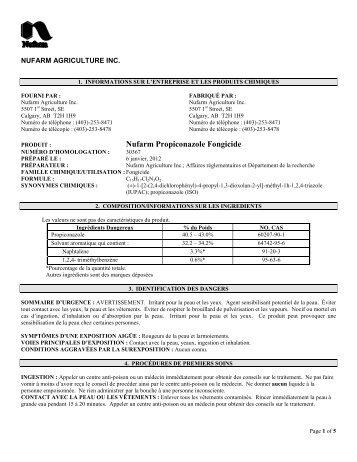 Nufarm Propiconazole Fongicide - Nufarm Canada