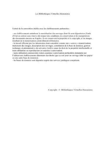 Les oeuvres de M. Francois Rabelais - Les Bibliothèques Virtuelles ...