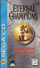 Eternal Champions: Challenge from the Dark Side - Sega CD - Manual