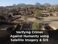 Verifying Crimes Against Humanity Using Satellite Imagery and GIS