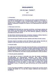 Regulamento Futebol 7