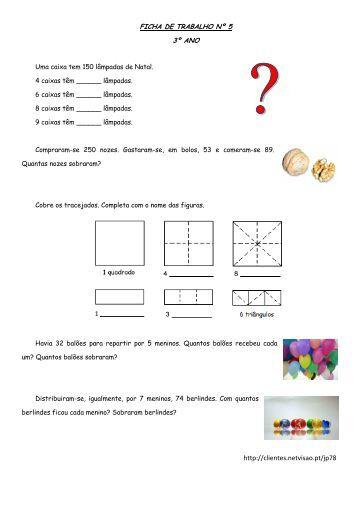 http://clientes.netvisao.pt/jp78 FICHA DE TRABALHO Nº 5 3º ANO