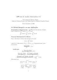 20ª Aula de Análise Matemática I E