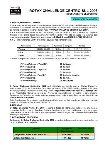 Regulamento da prova (04/03/2008)