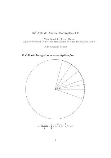 16ª Aula de Análise Matemática I E
