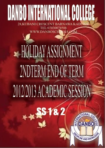 to download holiday assignment for Senior Class - Danbo ...