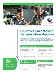 Evaluation en milieu de travail EMT - ref.529 - Pôle emploi