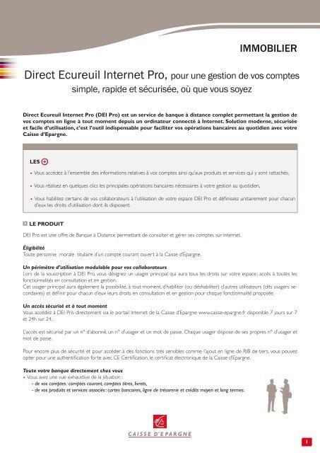Direct Ecureuil Internet Pro Caisse D Epargne