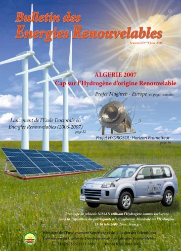 Bulletin des énergies renouvelables - maghreb - europe project ...
