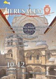 le numéro d'octobre-novembre-décembre 2012 - Patriarcat latin de ...