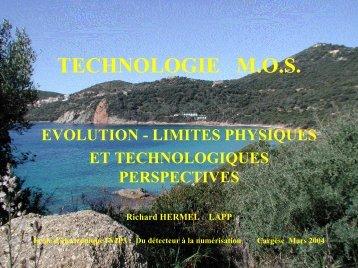 limites et évolutions des technologies (Richard Hermel) - IN2P3