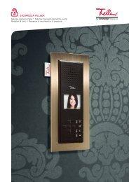 Sistema citofonico Feller I Sistema d'accesso biometrico overto ...