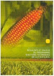 Bilan pluriannuel 2000-2008 - Résultats et enjeux du programme d ...