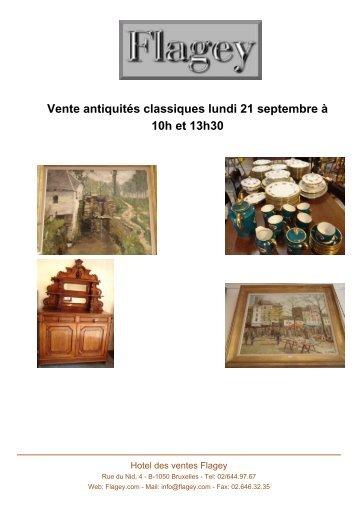 Vente antiquités classiques lundi 21 septembre ... - Auction In Europe