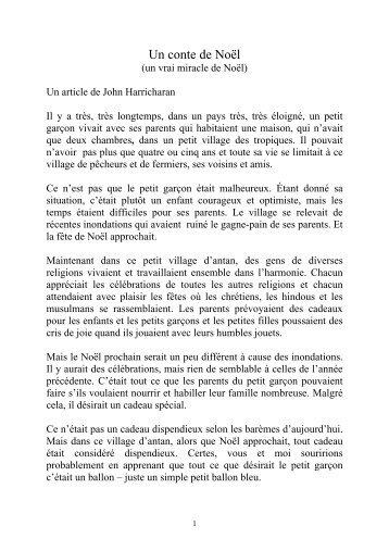 Un conte de Noël - Marcel Mercier