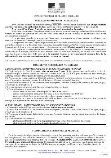Liste des documents pr - Publication banc mariage ...
