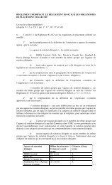 Règlement modifiant le Règlement 81-102 sur les organismes de ...