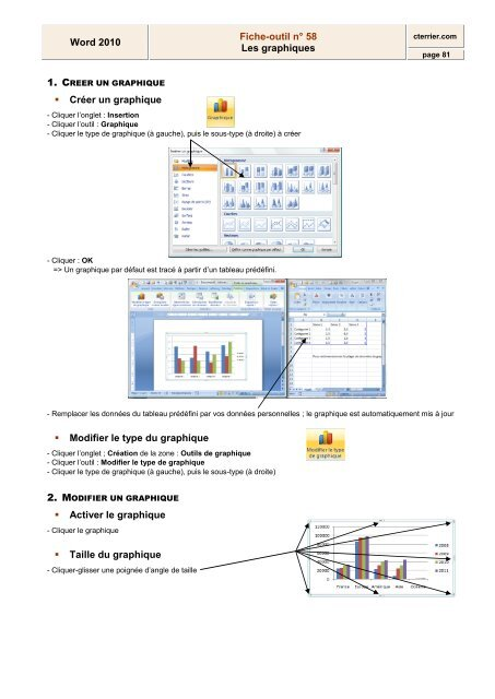 word 2010 fiche-outil n u00b0 58 les graphiques cr u00e9er un