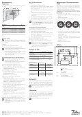 Thermostat für elektri- sche Bodenheizungen mit Timer ... - Feller Clixx - Seite 2