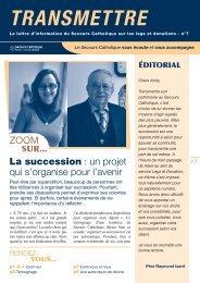 Lettre d'information n° 7 : l'organisation de - Secours catholique ...