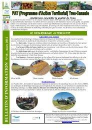 Bulletin d'information n°16 Mars 2012 - Chambre d'Agriculture de ...