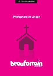 Patrimoine et visites - Le Beaufortain