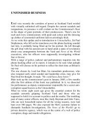 Unfinished business website extract