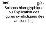 Science hiéroglyphique ou Explication des figures symboliques des ...