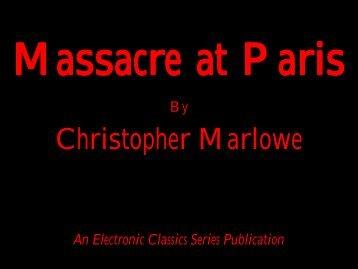 Massacre at Paris - Penn State University