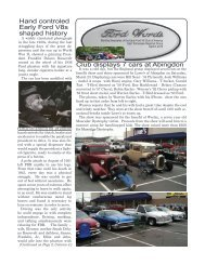 Club displays 7 cars at Abingdon Hand controled Early Ford ... - Clubs