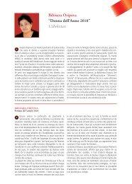 """Bibisara Oripova """"Donna dell'Anno 2010"""" Uzbekistan"""