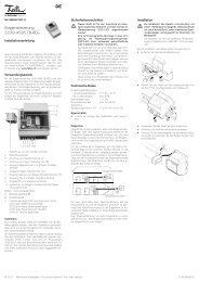 Etagensteuerung 3239-4585.TB.REG - Feller Clixx - Feller AG