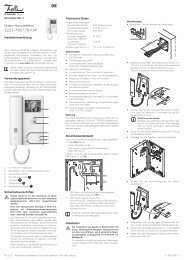 Video-Haustelefon 3223-7867.TB.V.AP - Feller Clixx