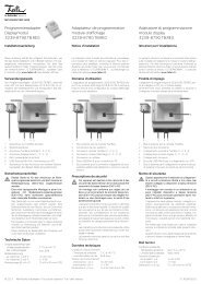 Programmieradapter Displaymodul 3239-8790.TB ... - Feller Clixx
