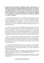 Monumenta Germaniae Historica, Diplomata regum et imperatorum ...