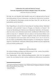Frühmoderne Herrschaft und Macht im Zentrum - Concilium medii aevi