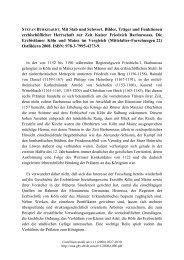 STEFAN BURKHARDT, Mit Stab und Schwert. Bilder, Träger und ...