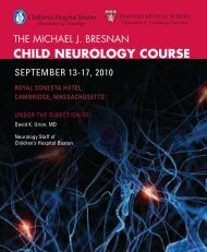 CHILD NEUROLOGY COURSE - CME - Harvard University