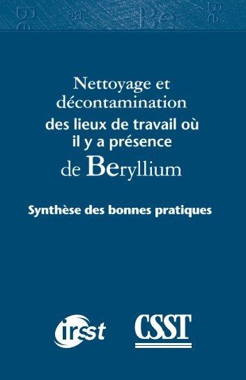 Télécharger le PDF (859 ko )Beryllium - CSST