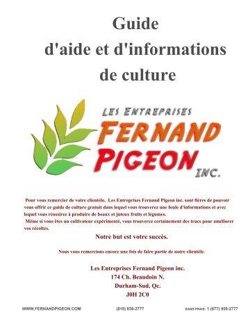 Guide d'aide et d'informations de culture - Entreprises Fernand ...