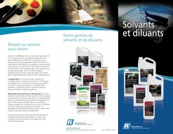 Solvants et diluants brochure - Recochem Inc.