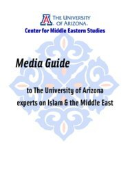 Untitled - The Center for Middle Eastern Studies - University of Arizona