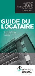 GUIDE DU LOCATAIRE - Office municipal d'habitation de Sherbrooke